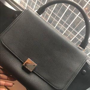 82a76963fed Saint Laurent Monogram Medium Envelope Bag Authentic Celine Trapeze Medium  ...